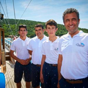 Godiva Sailing Crew op de boot