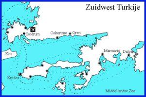 Route zuidwest Turkije